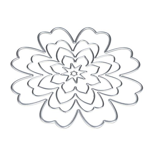 Covermason DIY Craft Flower/Heart/Star Metal Cutting Dies stamper Stencils For Scrapbooking Album Paper Card (A) Test