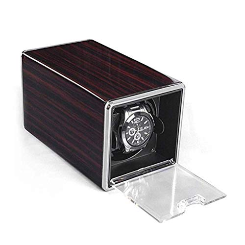 YUHT Automatische Uhrenbox Uhrenbeweger Holz, Carbon Glänzend Mit Leisem Motor Und 3 Tpd-mod Uhrenbeweger Fur Automatikuhren Uhren Zubehör Uhrenkasten Uhrenbox, Dark red