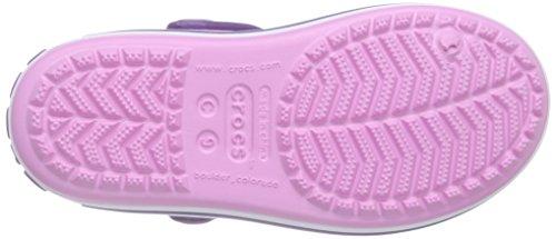 Crocs Crocband Sandalo K Ciabatte, Unisex Bambini Rosa (Carnation/Blue Violet)
