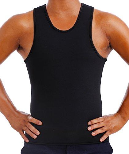 Gotoly Männer Abnehmen Body Shaper Sauna Undershirt Weste Neopren (XL Für 97-107 CM Taille, Schwarz) (Gesehen-bh Tv Im Wie)