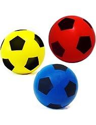 Ballon de football en mousse souple - 175mm - Taille unique - Couleur fournie au hasard - HTI Brand