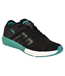 Campus Mens Black and T. Blue Running Shoes (Battle 3G-478) (7 UK)