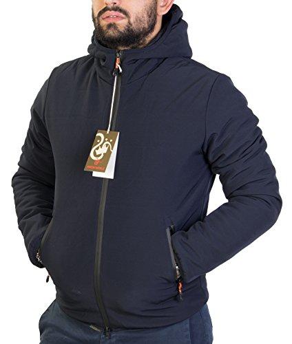 Antony morale giubotto piumino uomo blu invernale con cappuccio attaccato art.950-6 (m)