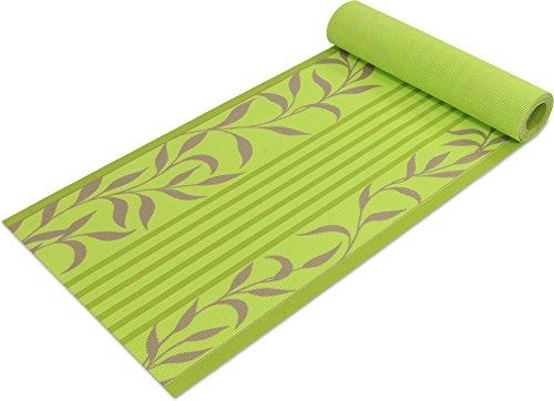Pvc-decken-fliesen (Tischläufer 40 cm breit aus Polyester mit Vinylbeschichtung wasserabweisend und rutschhemmend für Innen und Außen geeignetin verschiedenen Größen Farbe Floral Grün Größe 50 cm)