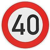 ORIGINAL Verkehrszeichen 40 Geburtstagsschild Verkehrsschild Geburtstag Schild Straßenschild