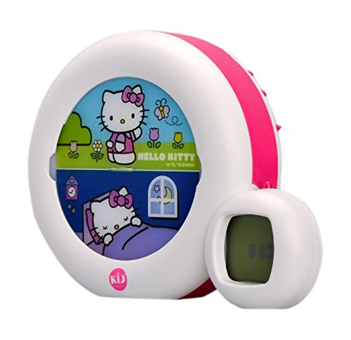 Claessens' Kid -KS0023- Veilleuse musicale MOON Hello Kitty Blanc & Rose