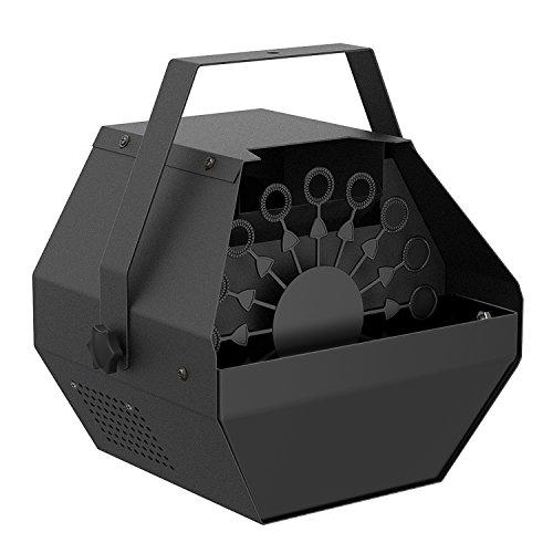 Machine à bulles Fansteck à haut débit avec soufflant à bulles automatique et moteur silencieux, faire des milliers de bulles pour mariage, soirées ou représentations, facile à nettoyer - noir