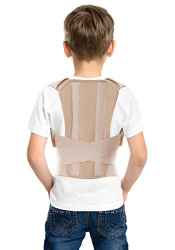 TOROS-GROUP Fascia posturale per bambini-Correttore postura regolabile per Bambini -tuttore posturale bambini Supporto ortopedico per correggere posture per Bambini Small Beige