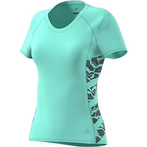 adidas Supernova Cru Parley Tee Women T-Shirt (Short Sleeve), Damen L Mint (Clear Mint) -