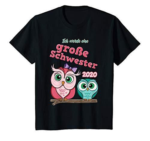 Kinder Große Schwester 2020 T-Shirt Eule Ich werde große Schwester (Große-bruder-schwester-shirt)