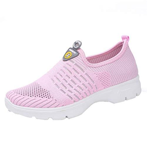 S&H NEEDRA Frauen Mesh Casual Loafers Breathable Slip-on Schuhe Weiche Laufschuhe TurnschuheDamen Rüschen Fischnetz Knöchel Hohe Socken Mesh Spitze Fischnetz Kurze Socken