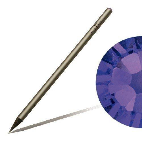 Matita con cristallo SWAROVSKI ELEMENTS Piffl Pen argento, Purple Velvet (277 Di Cristallo)