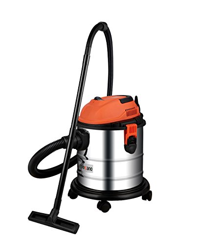 Mecano Primea 1200 Wet and Dry Stainless Steel Vacuum Cleaner with 220v Ac 1200w Universal Motor, 20L(Silver)