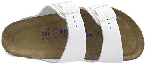 Birkenstock Arizona Leder Softfootbed, Ciabatte Unisex – Adulto Bianco (Bianco)