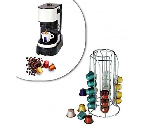 Stand per capsule caffè 30 posti portacapsule in metallo 4 colonne design moderno 726104 mws