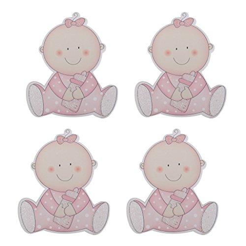4pcs Chic Della Neonata Rustici Clip Legno Pioli Decorativi Baby Shower Regalo