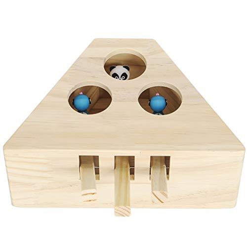 Pet Spielzeug Hamster Katze Lustige Katzenspielzeug Spielen Schlagen Ratte Spielzeug Haustier Katze Intelligenz Trainingsspielzeug (Color : Beige, Size : Small 3 holes)