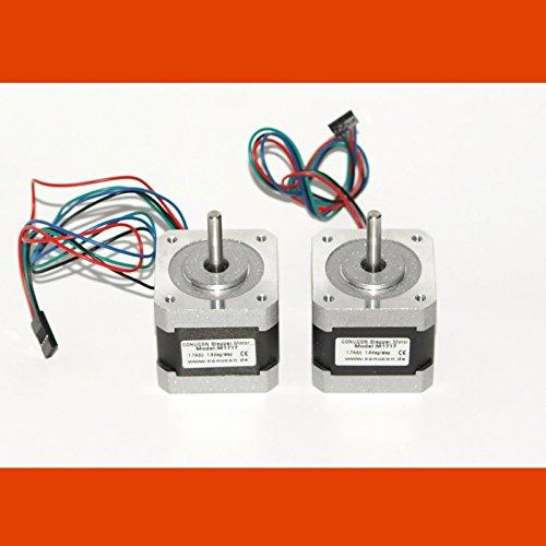 2-x-Schrittmotor-NEMA-17-17A-Stepper-Motor-mit-4P-Dupont-Stecker
