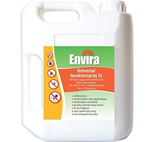 Envira Universal Insektenschutz I Hochwirksames Insekten-Spray Mit Langzeitschutz I Insektizid Auf Wasserbasis I 5 Liter