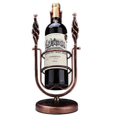 ZJW Kreative Swing Wine Rack, einzigartiges Design, exquisit und schön, kann die meisten Weinflaschen, aus Metall, mit Galvanikverfahren, Glatte Linien platzieren -