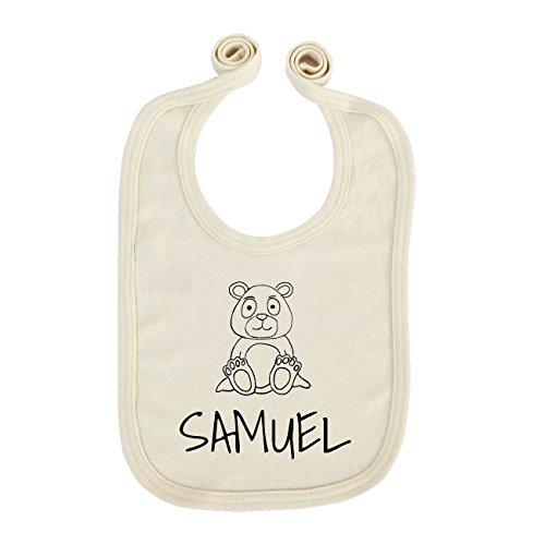 JOllipets Baby Kinder Lätzchen - SAMUEL - 100% BIO ORGANISCH - Design: Bär - ONE SIZE