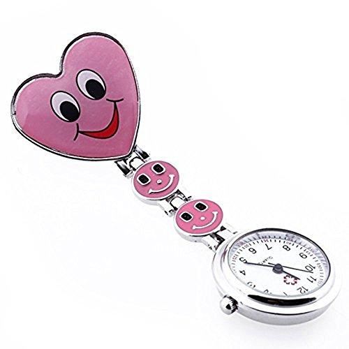 Rokoo Krankenschwester Armbanduhr reizendes Herz-Lächeln-Gesicht mit Medical Nurses Mode-Quarz-Uhren