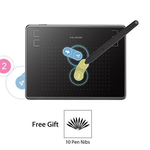 HUION Inspiroy H430P Tableta Gráfica 4096 Niveles de...