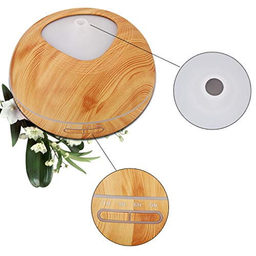 Wood Grain Essential Oil Difusores Humidificador ultrasónico