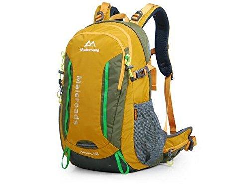 Outdoor-Bergsteigen Sporttasche Rucksack wandern outdoor Outdoor-Rucksack Taschen für Männer und Frauen 40L Yellow