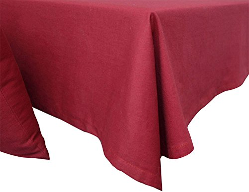 Huateng Hochwertige Baumwolltischdecken, staubdichte Mehrzwecktischdecken mit Volltonfarbe (5 Farben und 8 Größen)