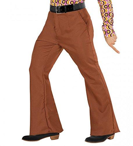 (shoperama 70er Jahre Retro Herren Hose mit und ohne Muster Disco Kostüm Siebziger Schlager, Größe:XXL;Farbe:Braun)