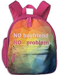 No Boyfriend No Problem Kid and Toddler Student Backpack School Bag Super Bookbag