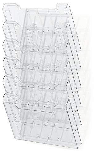 Exacompta Presentation Verkaufsständer Wandtattoo 15,50x 23,90x, cm Kristall 11,30 x 32,70 x 52,30 cm kristall