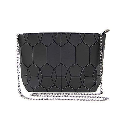 Hotone Geometric Umhängetasche Kette Crossbody Geldbörsen für Damen, Damenhandtaschen (Metallisch Schwarz) -