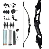 Best Compound Hunting Bow Packages - D&Q Recurve Bow Archery and Arrow Set Takedown Review