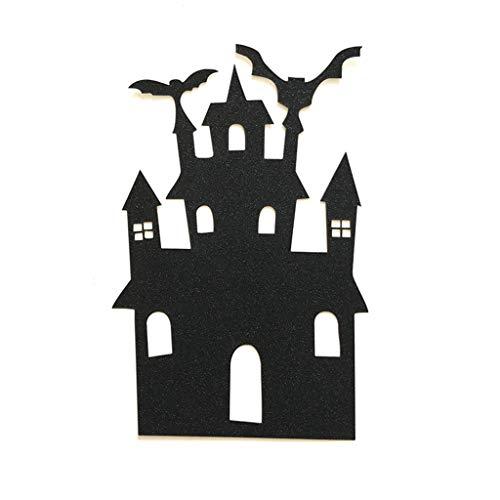 Ruda Kuchen-Deckel-Halloween-Schloss-Kuchen-Papier-Deckel Für Partei-Geburtstag Liefert Baby-Dusche DIY-Schwarzes