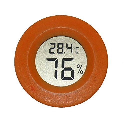 AGEG Runder Digitaler Elektronischer Thermometer Feuchtigkeitsmesser Hygrometer Humidiometer mit LCD-Anzeige für Familie Büro Fabrik Hundehütte Reptil Behälter (Rot)