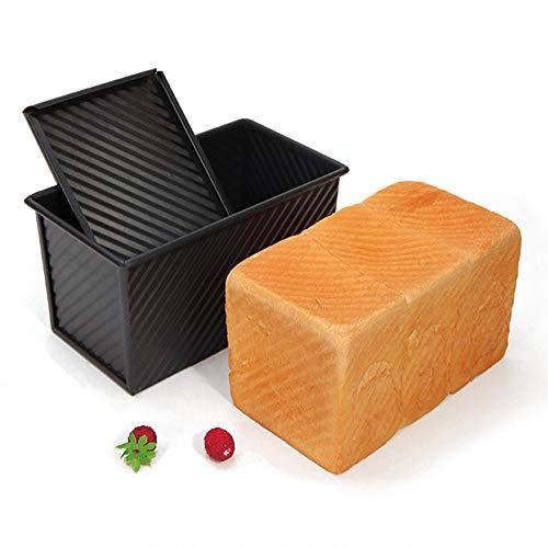 Tostado Molde de pan Acero al carbono Pastel de pan Hornear Hornear Pan de molde Postres antiadherentes Fabricante Caja de cartón corrugado con tapa Herramientas para hornear Negro