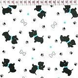 Hund Knochen 100% Baumwolle Baumwollstoff Kinderstoff Meterware Handwerken Nähen Stoff Tiermotiv 100x160cm 1 Meter (Hunde Knochen)