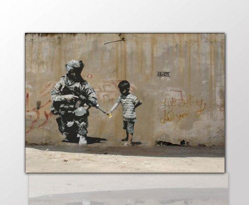 fotoleinwand24-toile-murale-style-graffiti-de-banksy-tendue-sur-encadrement-reproduction-pop-art-str