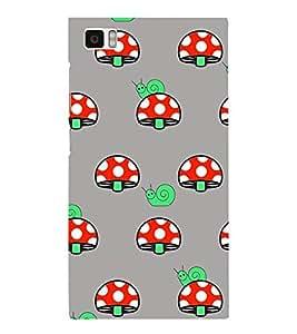 Snail and Mushroom 3D Hard Polycarbonate Designer Back Case Cover for Xiaomi Redmi Mi3