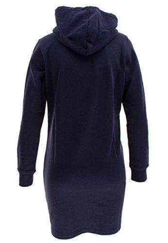 Gant Hoodie Dress, Vestito Donna Blau