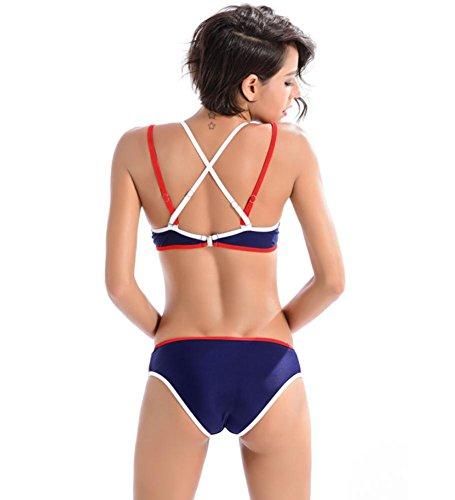 ZOYOL-YT Sexy bikini Swimwear Sport Con rilievo della cassa Spa Beach a due pezzi costume da bagno Set , 6 inches , Bark Brown Square 7 inch