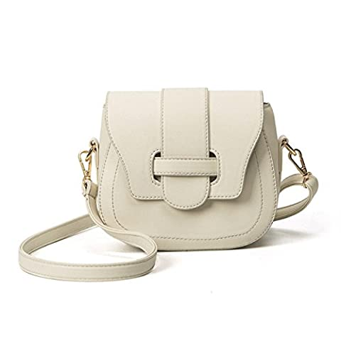 Spring And Summer Ladies With Mini Saddle Bag,Beige-AllCode