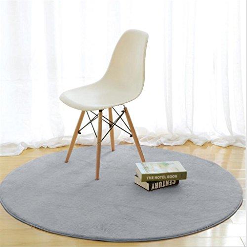 Moda hermosa y cómoda alfombras de área Textiles para el hogar Alfombras redondas Moderna Mesa Minimalista Sofá Salón Canasta Mantel Alfombra Grande Alfombra antideslizante YANGFF-Alfombras ( Color : Gris , Tamaño : 120*120cm )