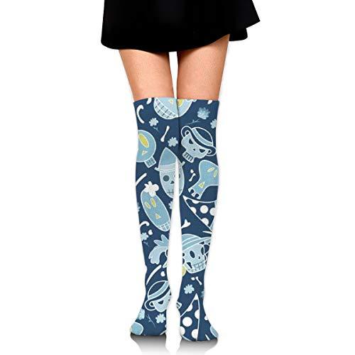Editable Vector File Women's Over Knee Thigh Socks Girl High Stockings 65 Cm/25.6In ()