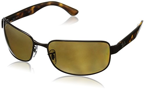 RAYBAN JUNIOR Herren Sonnenbrille RB3566 Chromance, Brown/Brownmirgoldgradientpolar, 65