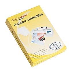 OfficeMarshal Hochglanz Laminierfolien - 15 Sorten wählbar - 100 Stück, Markenqualität