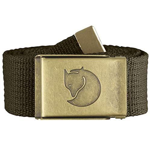 Fjällräven Herren Gürtel Canvas Brass Belt Dark Olive, One Size