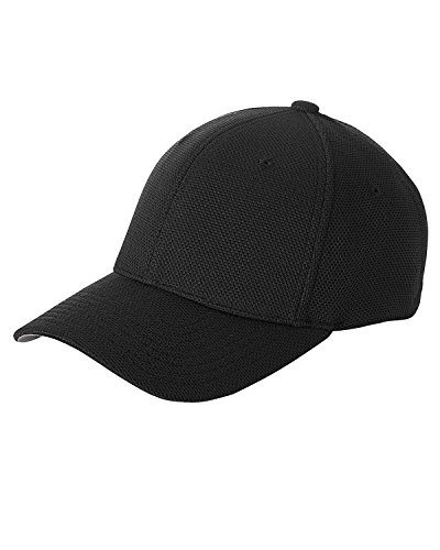 Kids Flex-fit Cap (6577 CD Flexfit Athletic Kühl und trocken Pique Mesh Cap Gr. One size, schwarz)